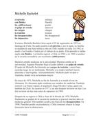 Michelle Bachelet Biografía: Spanish Biography on President of Chile