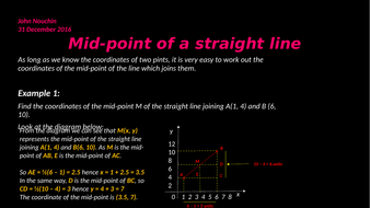 Mid-point of a straight line
