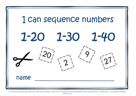 Number sequence workbook