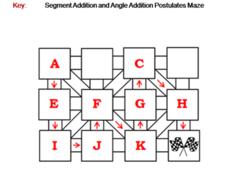 Segment Addition and Angle Addition Postulates Activity