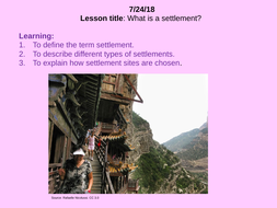 what are the different types of settlements