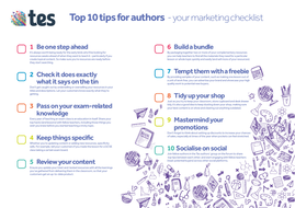 Top 10 marketing tips for authors