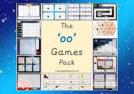 The Oo Long U Phonics Games Pack Phase 3 By First School Years