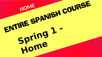 Spanish Year 7 Home House Town City Where I Live Whole Topic