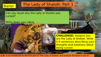 alliteration in the lady of shalott
