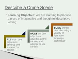 Describe a Crime Scene -Descriptive/CreativeWriting lesson