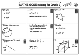 GCSE Maths Revision Pack: Aiming for Grade 7