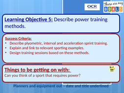 Cambridge National Sports Science R042: Power Training
