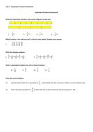 Equivalent Fractions Homework