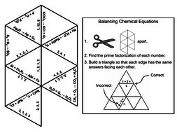 Balancing Chemical Equations Game: Chemistry Tarsia Puzzle by ...