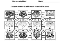 Stoichiometry: Chemistry Maze