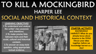 To Kill A Mockingbird  Social And Historical Context By Tandlguru  To Kill A Mockingbird  Social And Historical Context Do My Assignment Com also Blog Writing Services Online  Essay Topics High School