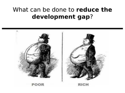 How can industry and investment reduce the development gap