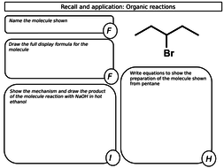 New A level Chemistry - organic synthesis worksheets by ls6372 ...