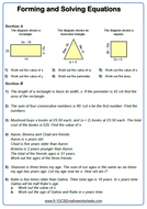 Forming And Solving Equations 9 1 Gcse Maths Worksheet By