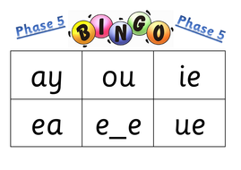 Phase 5 bingo - revision - screening check | Teaching Resources