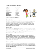 Spanish Future Tense Reading: ¿Como será la vida en 200 años  ? (futuro)