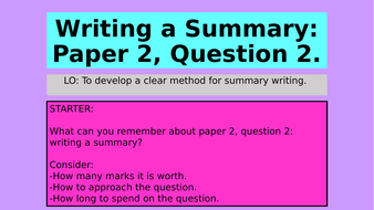 Aqa english language paper 2 question 2 writing a summary by aqa english language paper 2 question 2 writing a summary thecheapjerseys Images