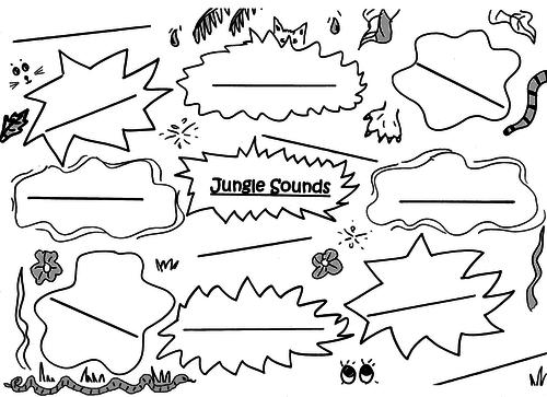 Jungle Sounds Picture-Poem Sheet - Juniors