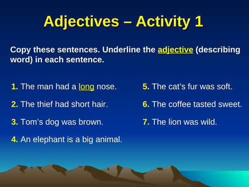 Literacy: 5 Adjectives Activities