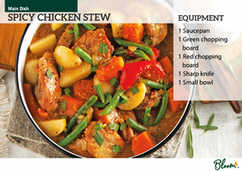 Food technology spicy chicken stew recipe card by litllemissbloom food technology spicy chicken stew recipe card forumfinder Image collections