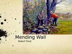 analysis of the poem mending wall by robert frost