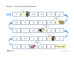 Tricky Words Board Game - Phase 2
