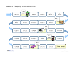 Tricky Words Board Game - Phase 4