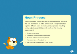 Noun Phrases Teaching Presentation - Year 2 Spag