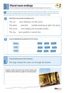 Making nouns plural worksheet - Year 3 Spag