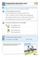 Using conjunctions that show cause worksheet - Year 3 Spag