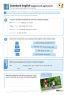 Standard English subject/ verb agreement worksheet - Year 4 Spag