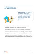 Apostrophes - Teacher/Parent Spag Guide