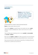 Nouns - Teacher/Parent Spag Guide