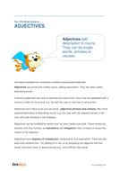Adjectives - Teacher/Parent Spag Guide