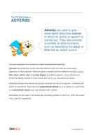 Adverbs - Teacher/Parent Spag Guide
