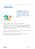 Sentences - Teacher/Parent Spag Guide