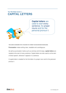 Capital letters - Teacher/Parent Spag Guide