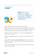 Verbs - Teacher/Parent Spag Guide