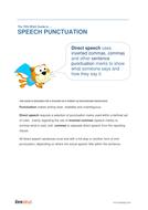 Speech Punctuation - Teacher/Parent Spag Guide