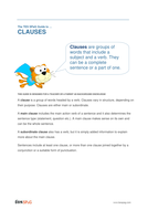 Clauses - Teacher/Parent Spag Guide