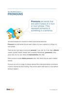 Pronouns - Teacher/Parent Spag Guide