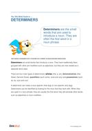 Determiners - Teacher/Parent Spag Guide