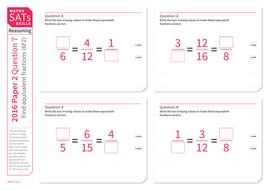 making equivalent fractions  ks maths sats reasoning  practice  rpqworksheetpdf