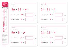 Solve Equations Ks2 Maths Sats Reasoning Practice Worksheet By