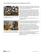 Guy Fawkes Information Book and Questions - Reading Level B - Guy Fawkes KS2