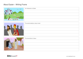 Writing Template with Images - Easter KS1/KS2