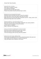 Animal Folk Tale Checklist - Literacy KS2