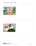 Writing Template with Images - Christmas KS1