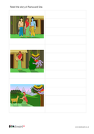 Writing Template with Images - Diwali KS1